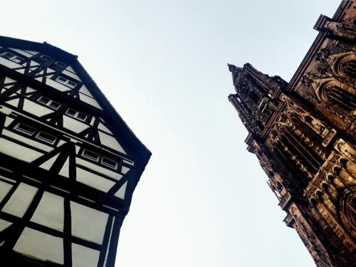 Les maisons à colombages et la cathédrale de Strasbourg : 2 symboles forts de l'Alsace