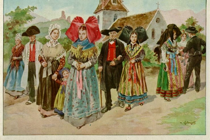 Costumes traditionnels d'Alsace