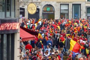 La Grand Place de Lille envahie par les diables rouges