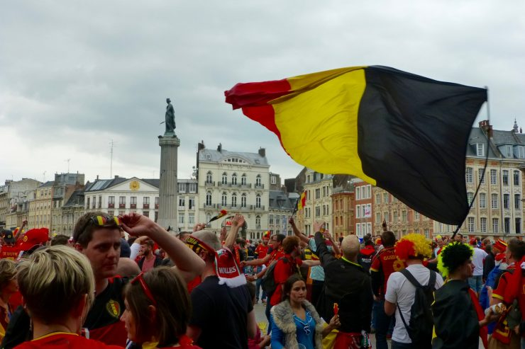 La Grand Place aux couleurs de la Belgique