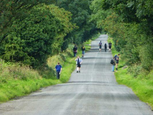 Le sentier est une véritable autoroute à randonneurs par endroits !
