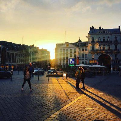 Coucher de soleil à Lille