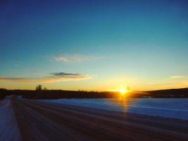 Un lever de soleil à Boden, Suède
