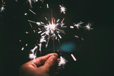 Un cierge magique pour célébrer la nouvelle année