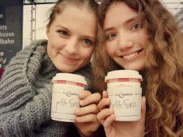 Moi et ma correspondante allemande, Georgie : j'ai passé 3 mois chez elle, et elle est ensuite venue 3 mois en France