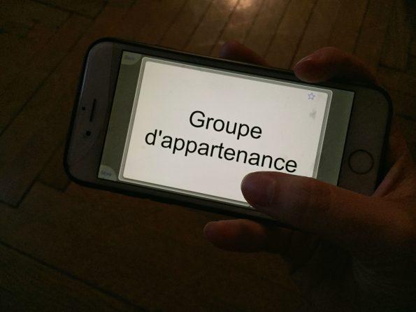 Une flashcard sur smartphone