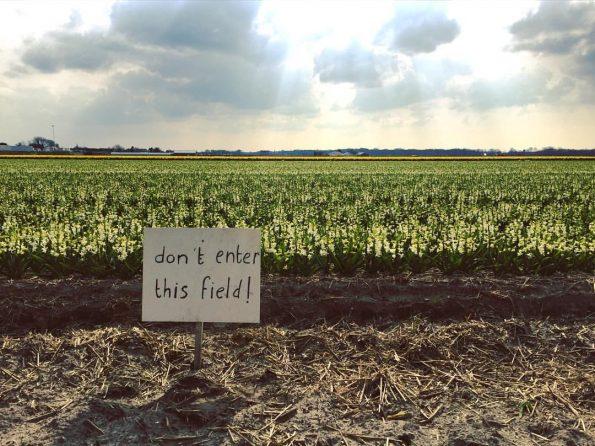 Parfois, l'accès aux champs est interdit