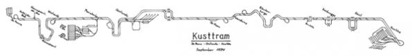 Gleisplan Kusttram 1994