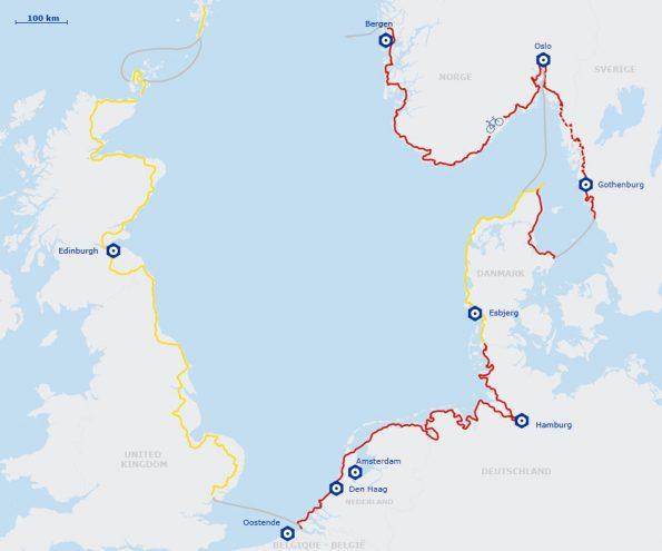EuroVelo 12 Véloroute de la mer du Nord