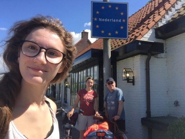 Selfie lors de l'arrivée aux Pays-Bas