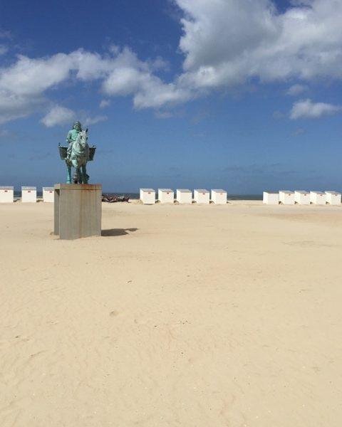 une plage en Belgique : La Panne