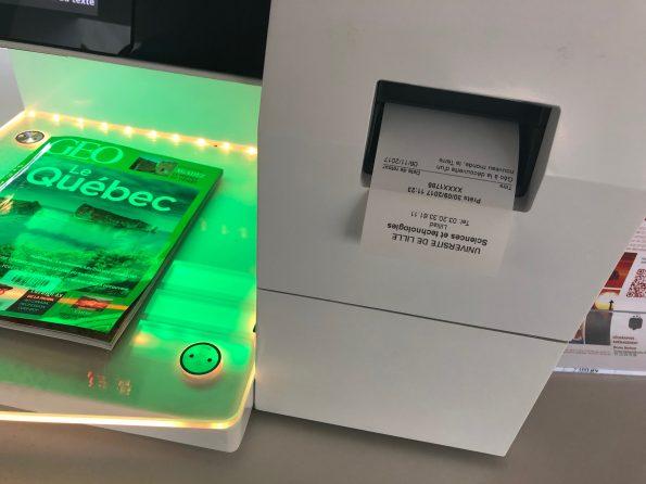 La machine qui permet d'emprunter des livres