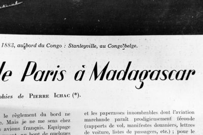 """""""Itinéraire aérien de Paris à Madagascar"""""""