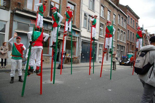 Des échassiers à la fête de Wallonie