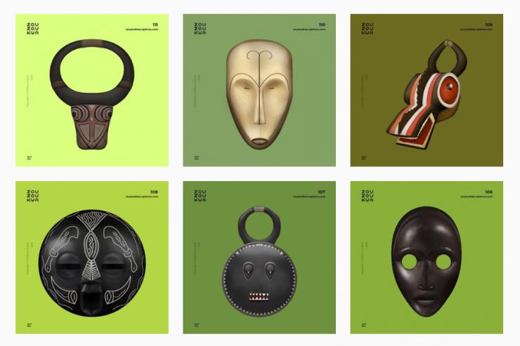Zouzoukwa, les emojis africains créés par O'Plérou Grebet