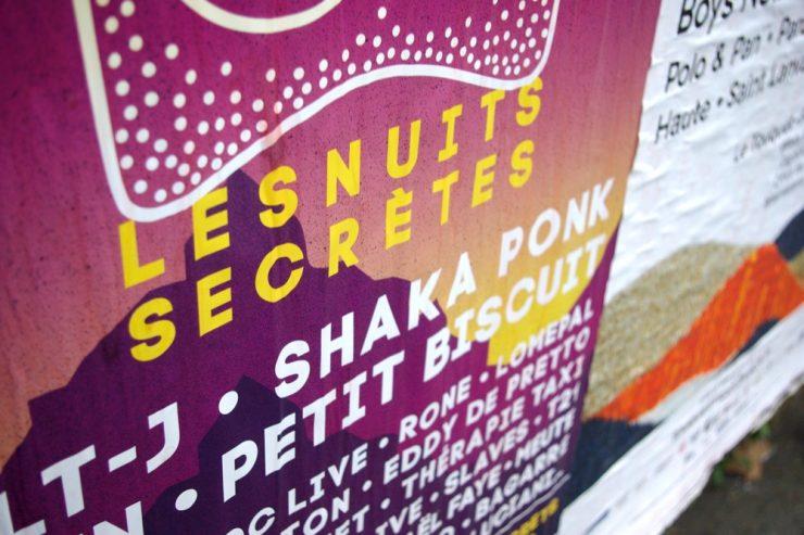 Affiche pour le festival Les Nuits Secrètes