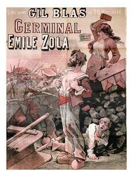 Affiche annonçant la publication de Germinal dans Gil Blas (domaine public)