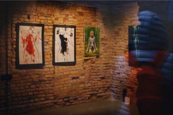 Une galerie d'art dans le quartier d'Uzupis ©Clara Delcroix