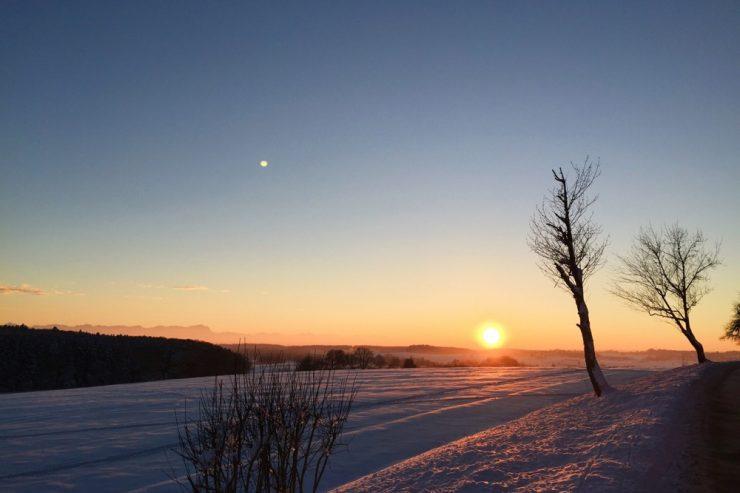 Coucher de soleil sur les Alpes bavaroises ©Clara Delcroix
