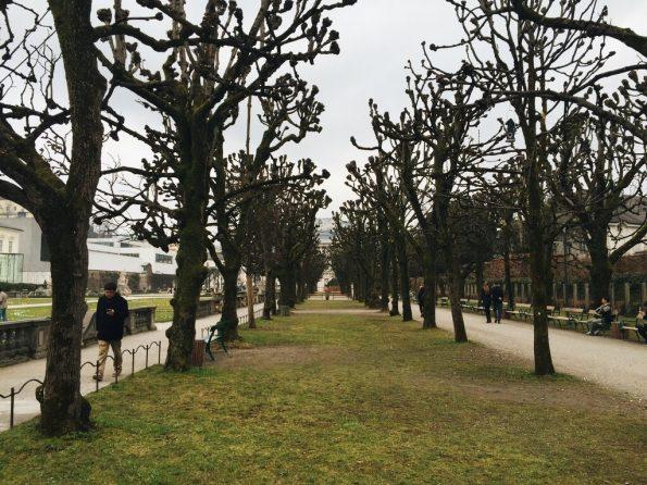 L'échange Sauzay peut aussi être un moyen de visiter d'autre villes, comme ici Salzbourg, avec le jardin Mirabell © Clara Delcroix