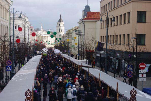 La foire de Saint Casimir à Vilnius (Lituanie) © Clara Delcroix