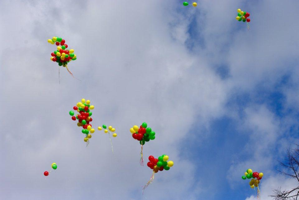 lacher ballons 11 mars 2019 vilnius lituanie