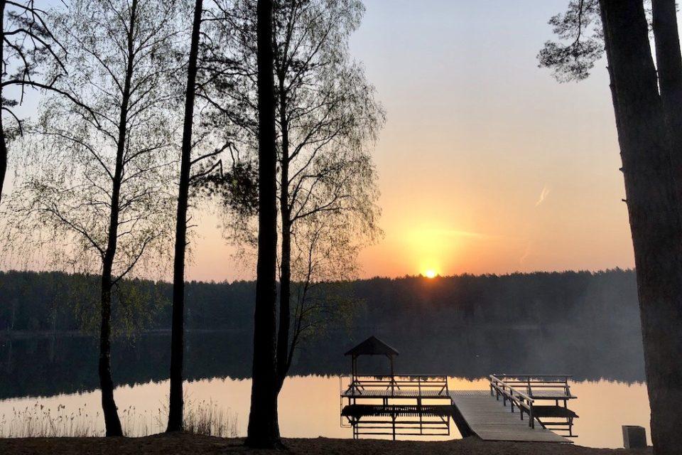 Lever de soleil sur le lac Balžis © Clara Delcroix