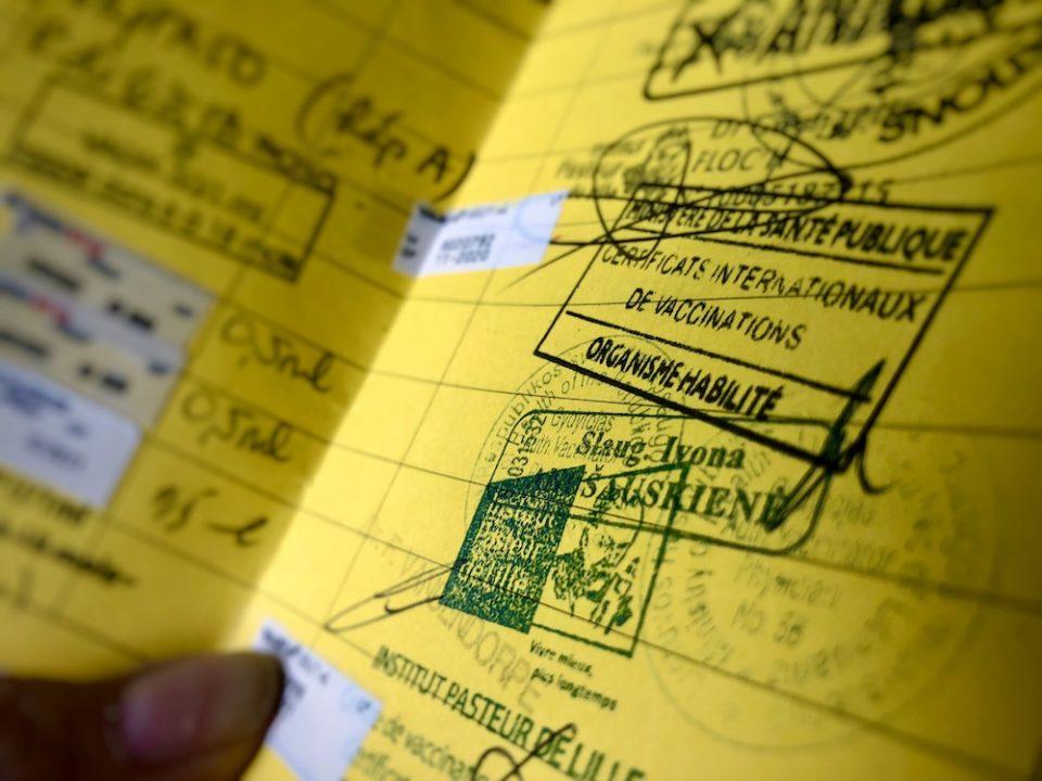 En Lituanie ou en France, si on souhaite se faire vacciner, le carnet de vaccination international est utile pour garder une trace et faciliter les rappels ©Clara Delcroix