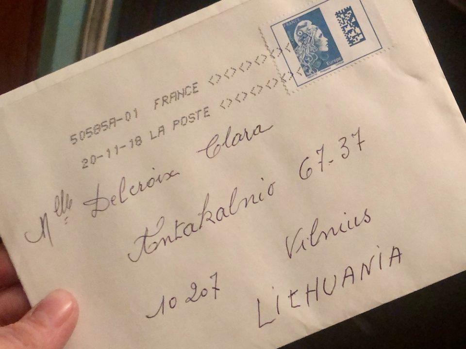Recevoir du courrier, ça fait toujours plaisir ! © Clara Delcroix